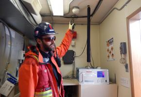 Diavik's air quality sampler for total suspended particulates